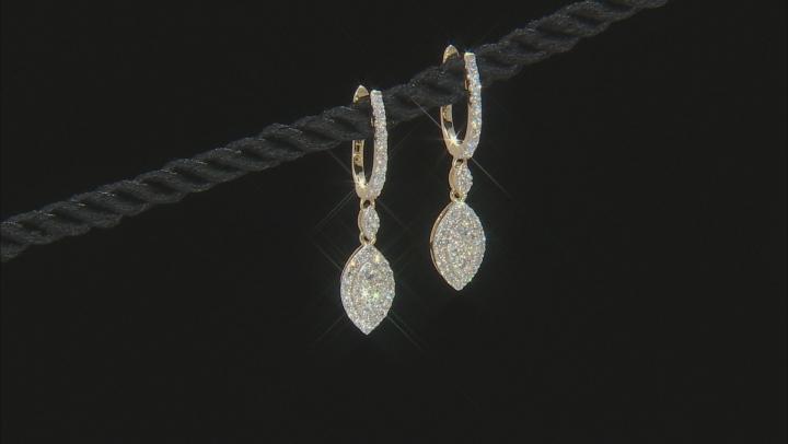 White Lab-Grown Diamond 14K Yellow Gold Earrings 0.94ctw