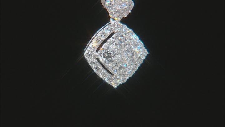 White Lab-Grown Diamond 14K White Gold Pendant With 18