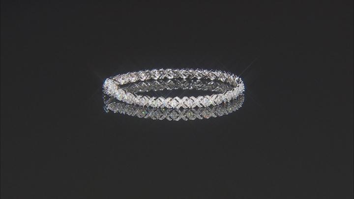 White Lab-Grown Diamond 14K White Gold Bracelet 2.83ctw