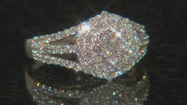 White Lab-Grown Diamond 14K White Gold Ring 1.15ctw