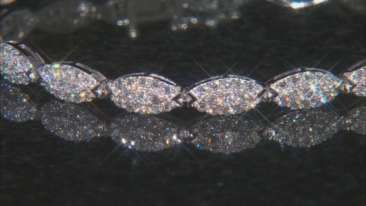 White Lab-Grown Diamond 14K White Gold Bracelet 3.15ctw