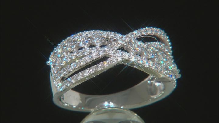 White Lab-Grown Diamond 14K White Gold Ring 0.71ctw