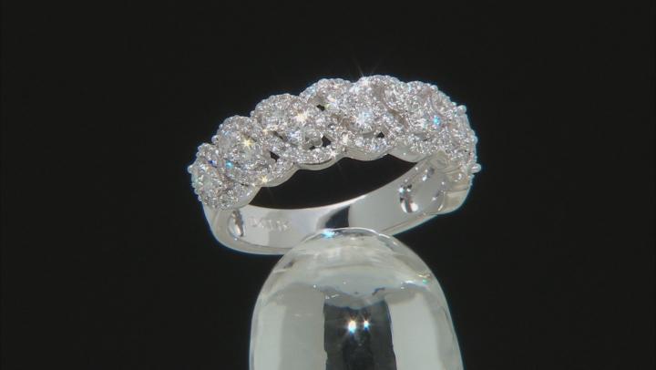 White Lab-Grown Diamond 14K White Gold Band Ring 1.00ctw