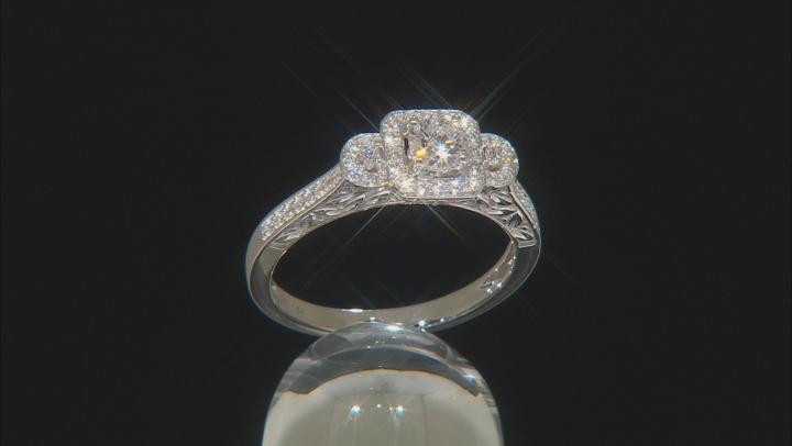 White Lab-Grown Diamond 14K White Gold Promise Ring 0.50ctw