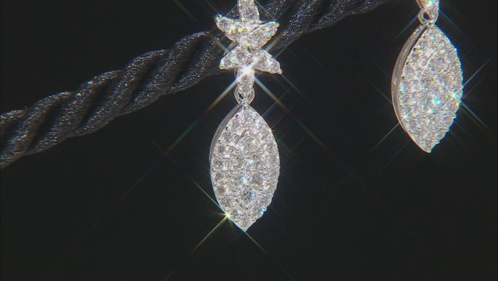 White Lab-Grown Diamond 14K White Gold Earrings 1.00ctw