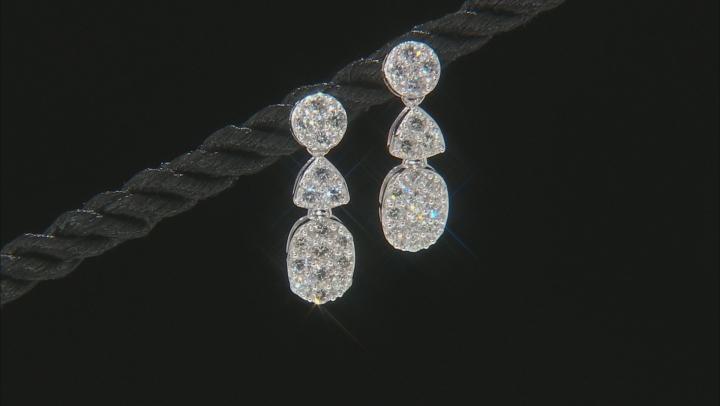 White Lab-Grown Diamond 14K White Gold Earrings 1.03ctw