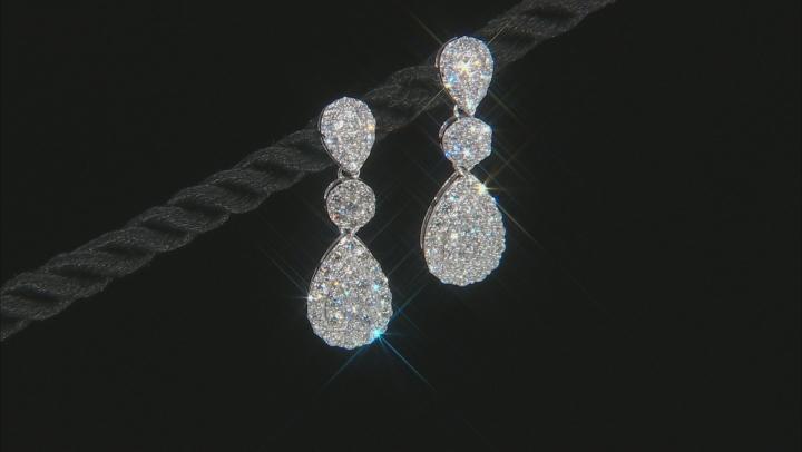 White Lab-Grown Diamond 14K White Gold Earrings 1.05ctw