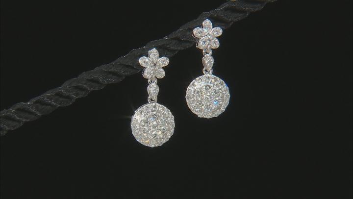 White Lab-Grown Diamond 14K White Gold Earrings 0.96ctw