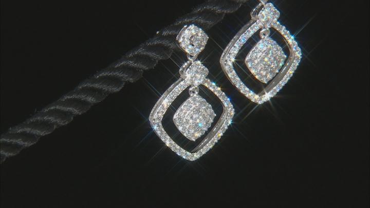 White Lab-Grown Diamond 14K White Gold Earrings 1.45ctw