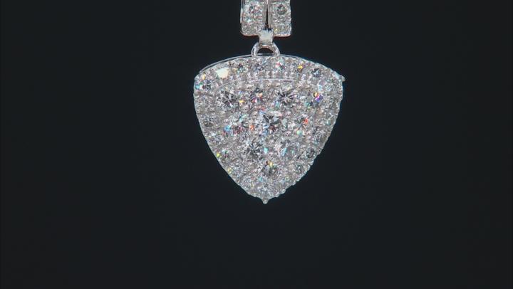 White Lab-Grown Diamond 14K White Gold Cluster Pendant With 18