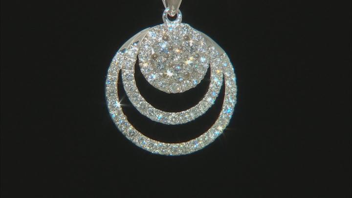 White Lab-Grown Diamond 14K White Gold Pendant With Chain 0.79ctw
