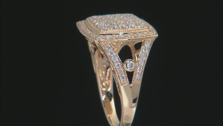 White Lab-Grown Diamond 14K Yellow Gold Ring 0.96ctw