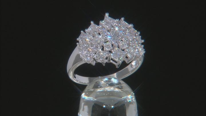 White Lab-Grown Diamond 14K White Gold Ring 1.85ctw
