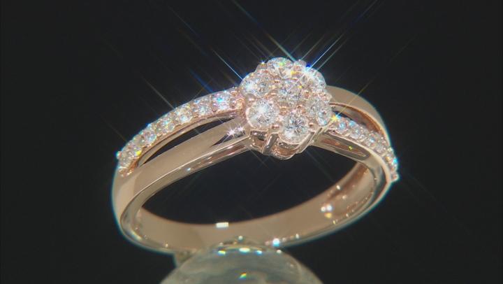 White Lab-Grown Diamond 14K Rose Gold Ring 0.50ctw