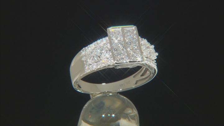 White Lab-Grown Diamond 14K White Gold Cluster Ring 1.74ctw