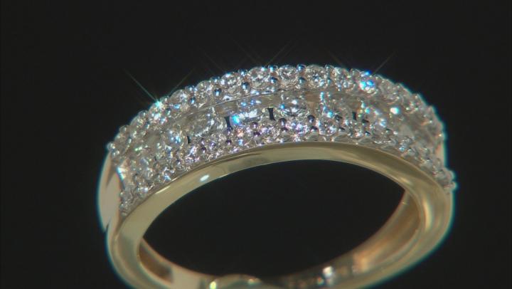White Lab-Grown Diamond 14k Yellow Gold Band Ring 0.95ctw