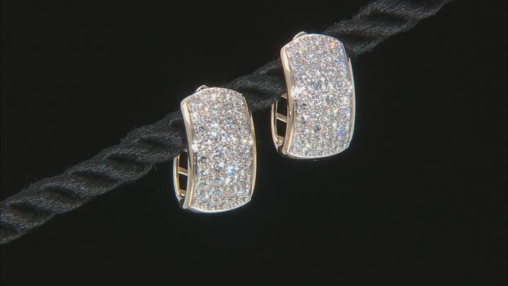 White Lab-Grown Diamond 14k Yellow Gold Hoop Earrings 0.95ctw