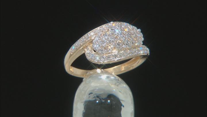 White Lab-Grown Diamond 14k Yellow Gold Cluster Ring 1.00ctw