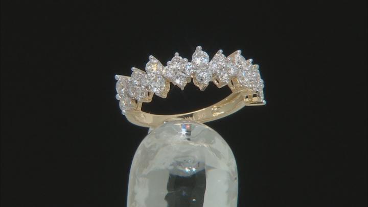 White Lab-Grown Diamond 14k Yellow Gold Band Ring 1.00ctw