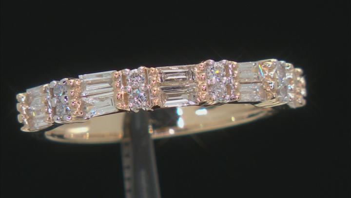 White Lab-Grown Diamond 14k Yellow Gold Band Ring 0.65ctw