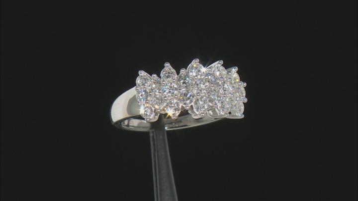 White Lab-Grown Diamond 14k White Gold Cluster Ring 1.40ctw