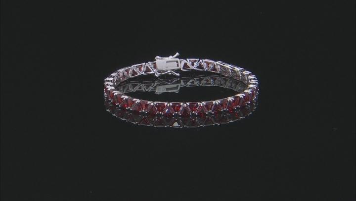 Red garnet sterling silver bracelet 16.80ctw