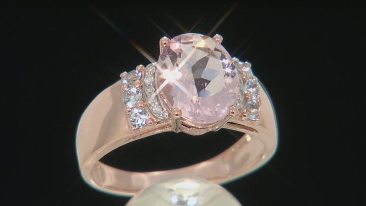 Pink Morganite 10k Rose Gold Ring 2.22ctw