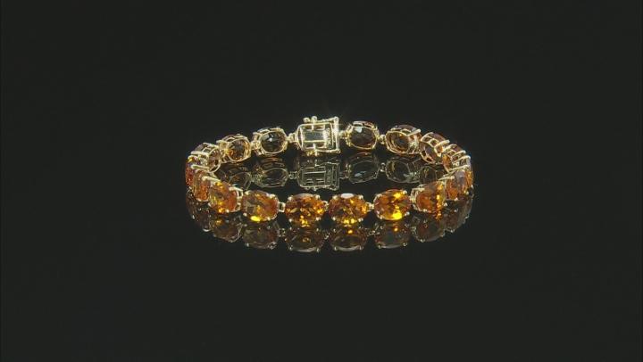 Orange Madeira Citrine 10k Gold Tennis Bracelet 26.25ctw