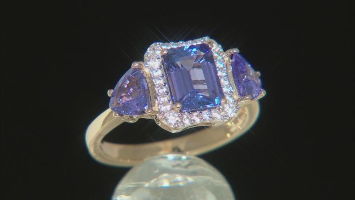 Blue Tanzanite 10k Yellow Gold Ring 2.73ctw