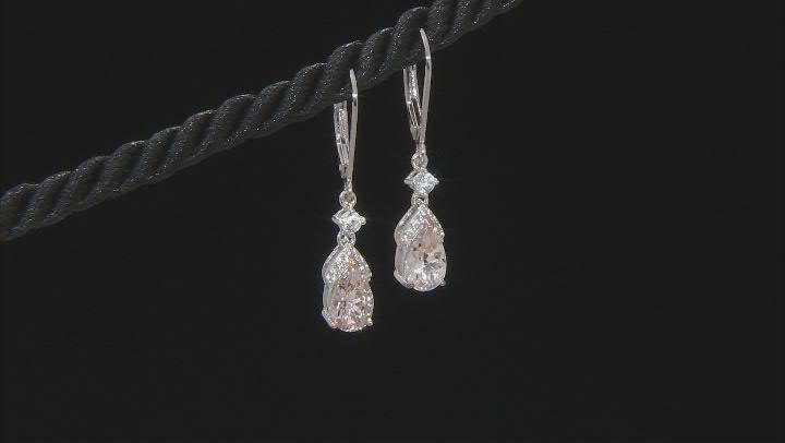 Peach Morganite Sterling Silver Earrings 1.46ctw