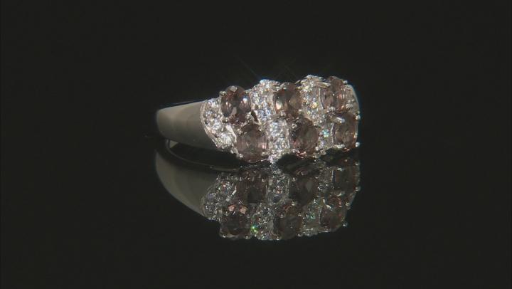 Pink Color Change Garnet Silver Ring 1.33ctw