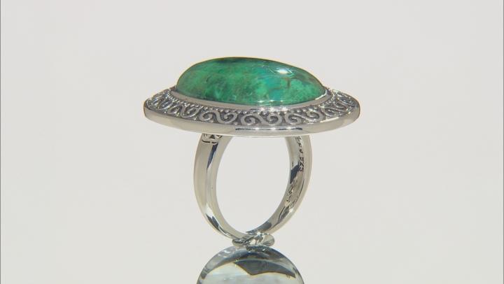Green Peruvian Chrysocolla Sterling Silver Ring
