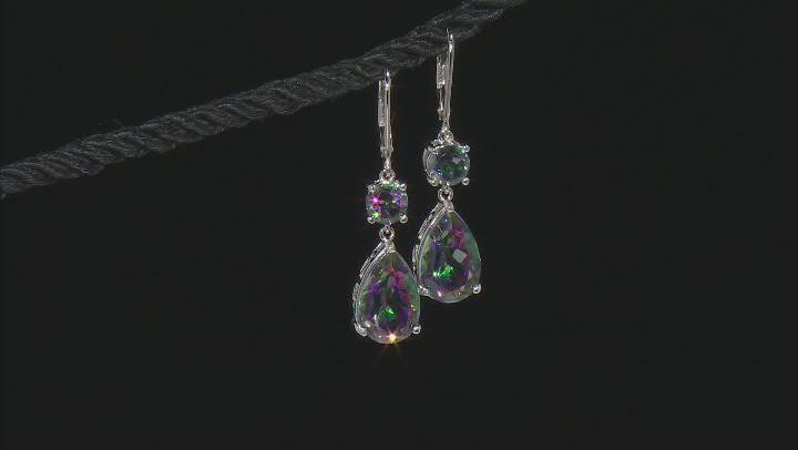 Multicolor Quartz Rhodium Over Sterling Silver Earrings 8.45ctw