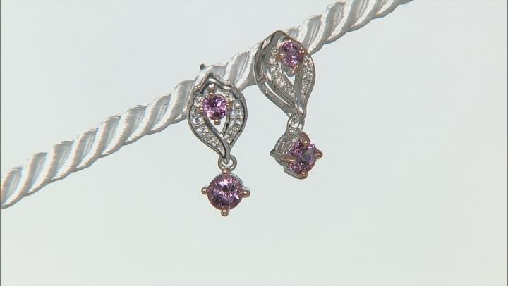 Purple Garnet Sterling Silver Earrings .87ctw
