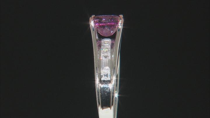 Pink Garnet Sterling Silver Ring 1.61ctw