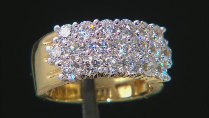 Swarovski ® White Zirconia 18K Yellow Gold Over Sterling Silver Ring 3.94ctw