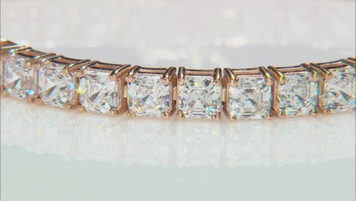 White Zirconia From Swarovski ® 18K Rose Gold Over Sterling Silver Tennis Bracelet 26.00ctw