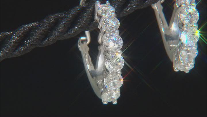 White Zirconia From Swarovski ® Platinum Over Sterling Silver Earrings 3.22ctw
