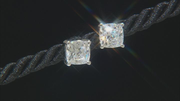 Zirconia From Swarovski ® Rhodium Over Sterling Silver Stud Earrings 9.18ctw