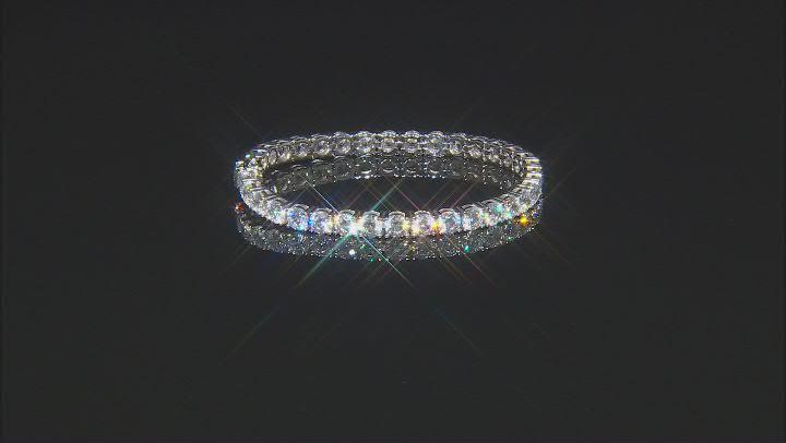 White Cubic Zirconia From Swarovski ® Platinum Over Sterling Silver Tennis Bracelet 32.94ctw