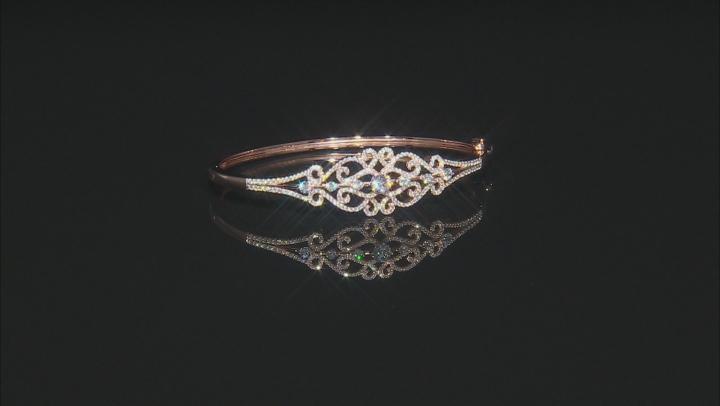 White Cubic Zirconia 18k Rose Gold Over Sterling Silver Bracelet 3.61ctw