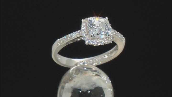 Celebration Cut Zirconia From Swarovski(R) Rhodium Over Sterling Silver Ring 2.31ctw