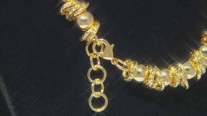 Moda Al Massimo® 18k Yellow Gold Over Bronze Designer Ball Station 20 1/2 inch Necklace
