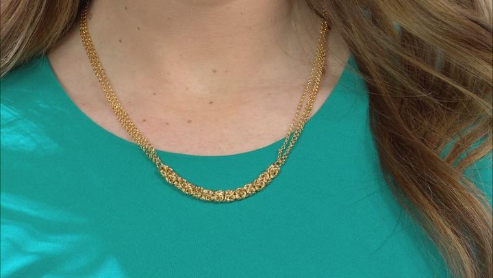 Moda Al Massimo(R) 18k Yellow Gold Over Bronze Byzantine Center 20 inch Necklace