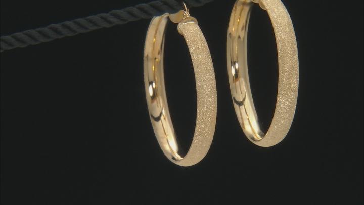 Moda Al Massimo® 18K Yellow Gold Over Bronze Diamond Cut Hoop Earrings
