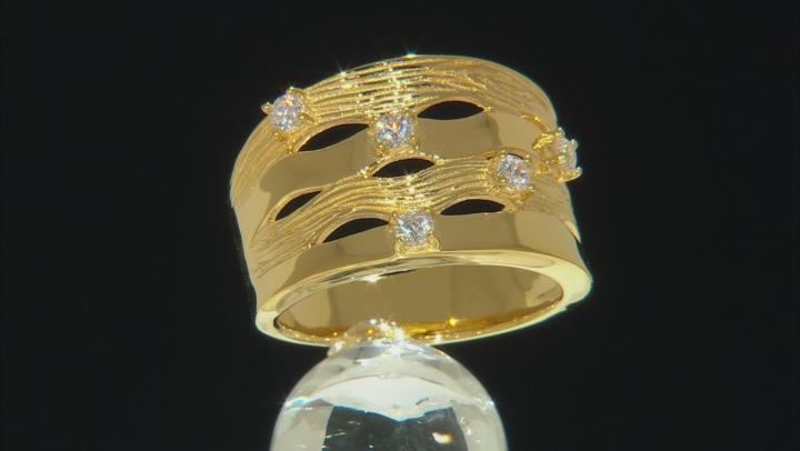Moda Al Massimo® White Cubic Zirconia 18K Yellow Gold Over Bronze Ring