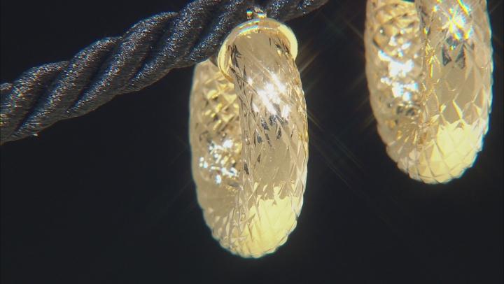 Moda Al Massimo® 11mm 18K Yellow Gold Over Bronze Hammered Hoop Earrings