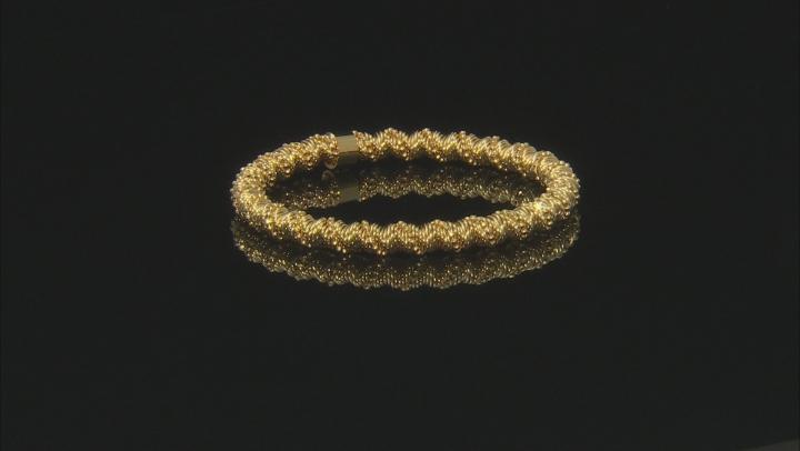 Moda Al Massimo® 18K Yellow Gold Over Bronze Spiral Bead Stretch Bracelet