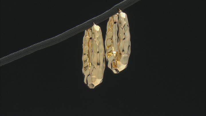 Moda Al Massimo® 18K Yellow Gold Over Bronze Oval Hoop Earrings