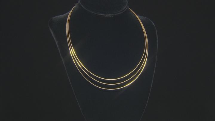 Moda Al Massimo® 18K Yellow Gold Over Bronze Multi-Strand Link Chain Necklace 20 Inch